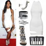 Sevyn Streeter: White Dress, Word Sandals