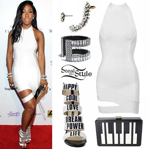 Sevyn Streeter: White Dress, Word Sandals