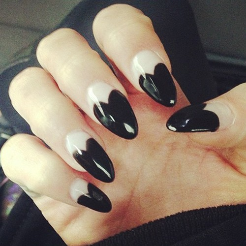 Vanessa Hudgens Black, White Heart Tips Nails | Steal Her ... Vanessa Hudgens Nails
