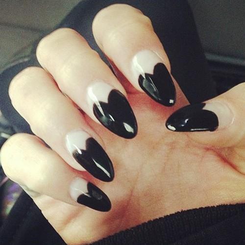 Vanessa Hudgens Black, White Heart Tips Nails | Steal Her ... Vanessa Hudgens Nails