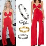 Amanda Steele: Red Cutout Jumpsuit