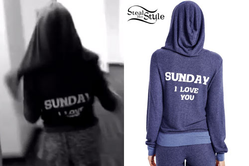 Ariana Grande: 'Sunday I Love You' Hoodie