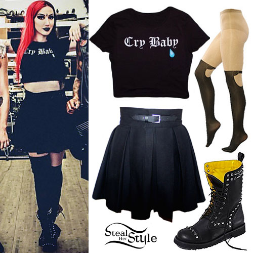 f115ad4c9b2 Ash Costello  Cry Baby Crop Top