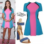 Bailee Madison: Neon Colorblock Dress