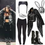Bebe Rexha: Fringe Biker Jacket