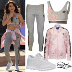 Becky G: Adidas Roses Outfit