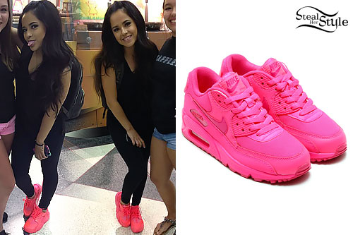 Becky G: Hot Pink Sneakers
