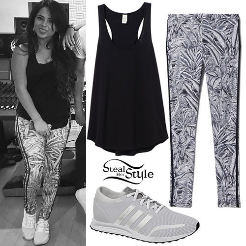 Becky G: Leaf Print Leggings