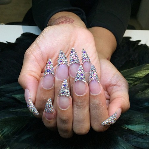 Blac Chyna Clear Nail Art Studs Nails