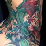blac-chyna-tattoo-side-lily