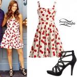 Cassadee Pope: Cherry Print Dress