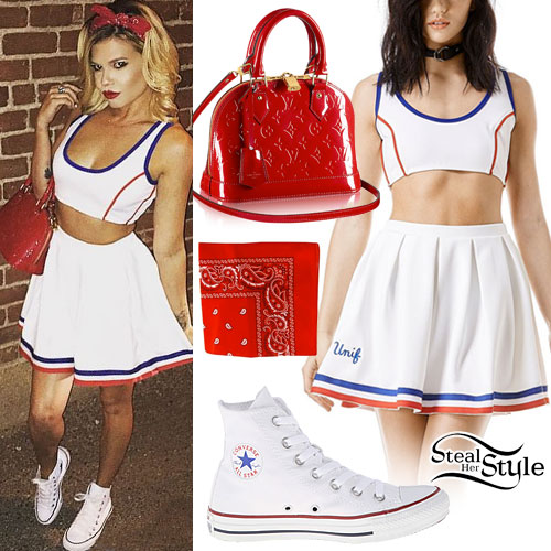 Chanel West Coast: Cheerleader Outfit