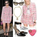 Charli XCX: Pink Tweed Jacket & Skirt