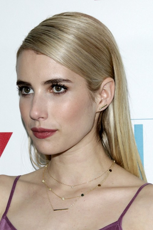 Emma Roberts Straight Ash Blonde All-Over Highlights Hairstyle | Steal ... Vanessa Hudgens Straight Hair