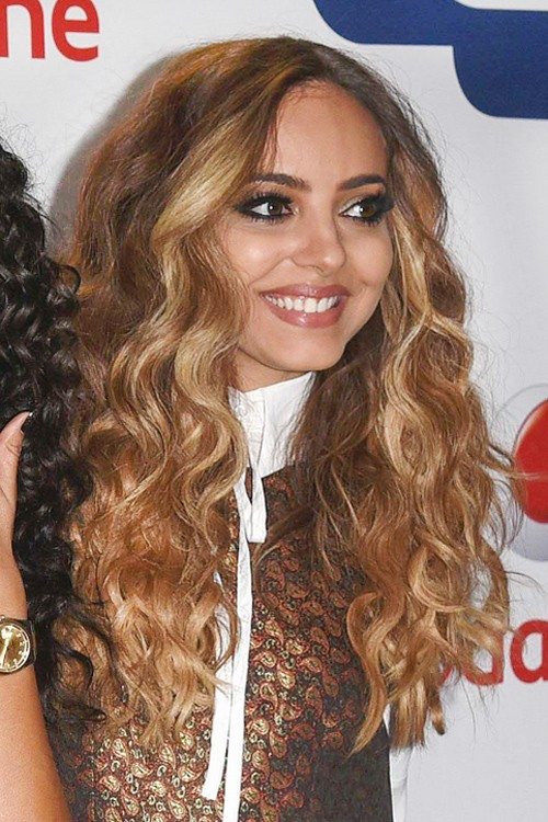 Jade Thirlwall Wavy Light Brown All Over Highlights