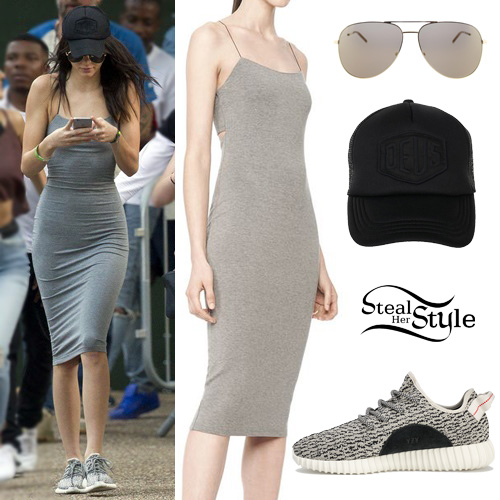 Kendall Jenner Grey Dress Outfit Steal Her Style