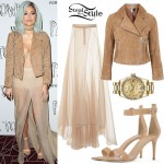 Kylie Jenner: Sheer Maxi Skirt Outfit