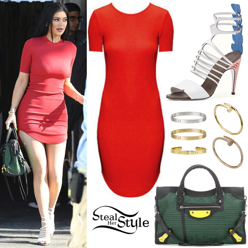 Red dress outfits