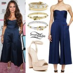 Madison Pettis: Blue Culotte Jumpsuit