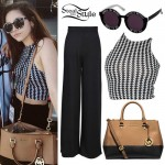 Maggie Lindemann: Houndstooth Crop Top