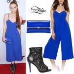 Meghan Hughes: Blue Wide-Leg Jumpsuit