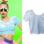 Miley Cyrus: Blue Velvet Crop Top