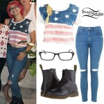 Nia Lovelis: American Flag T-Shirt