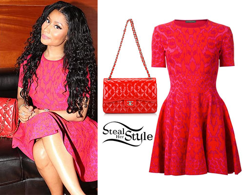 Nicki Minaj: Pink Printed Dress