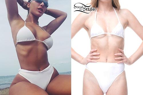 Niykee Heaton: White String Bikini
