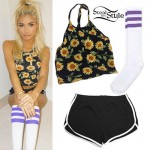 Pia Mia Perez: Sunflower Crop Top