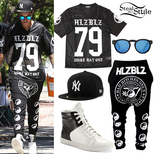 Ruby Rose: HLZBLZ Jersey Outfit