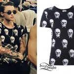 Ruby Rose: Skull Print T-Shirt