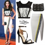 Ryan Newman: Asymmetric Wrap Skirt