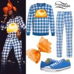 Santigold: Gingham Print Outfit