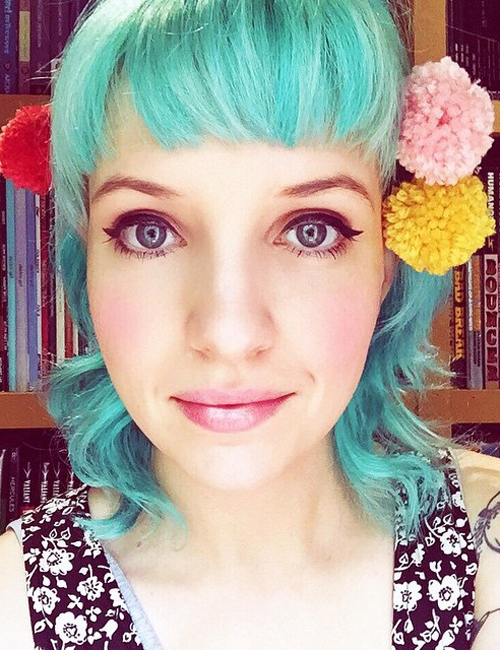 Sherri Dupree Bemis Wavy Green Choppy Layers Straight