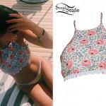 Sofia Richie: Floral Halter Bikini