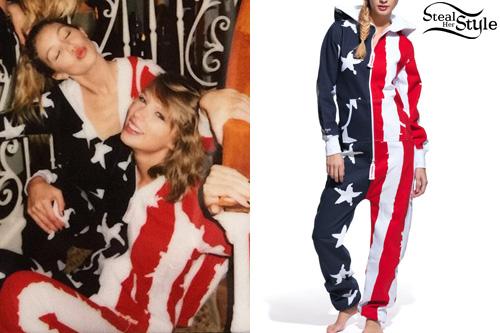 Gigi Hadid Taylor Swift Usa Flag Onesie