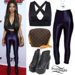 Teala Dunn: Navy Disco Pants