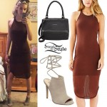 Amanda Steele: Tank Dress, Wrap Booties