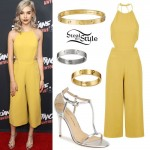 Amanda Steele: Yellow Cutout Jumpsuit