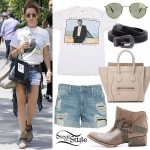 Ashley Tisdale: Destroyed Shorts, Ankle Boots