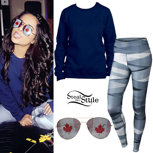 Becky G: Gray Banded Leggings