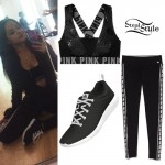 Becky G: Bra Top, Sidestripe Leggings