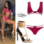 Blac Chyna: Red Bikini, Nude Sandals