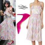 Carly Rae Jepsen: Printed Ruffle Dress