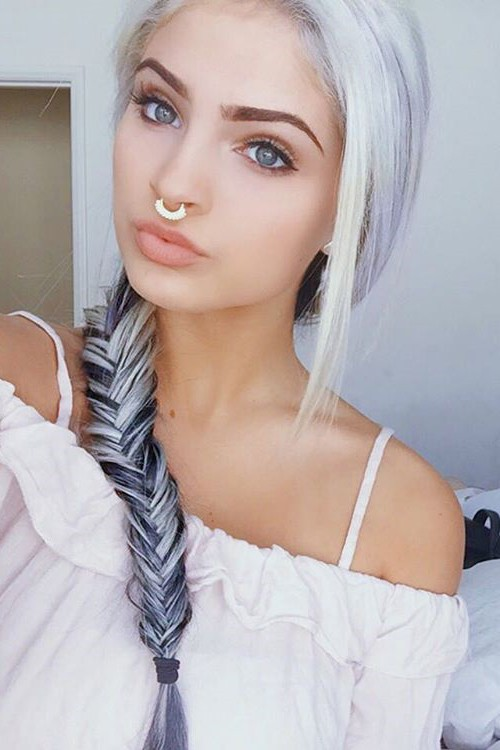 Carrington Durham Straight Silver All Over Highlights Fishtail