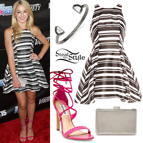 Chloe Lukasiak: Striped Skater Dress
