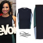 Demi Lovato: Colorblock Skirt Set