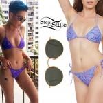 Halsey: Purple Print Bikini