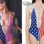 Halsey: American Flag Swimsuit
